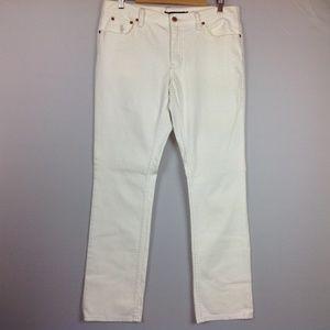 Ralph Lauren Jeans Womens 31 in. Ivory Straight